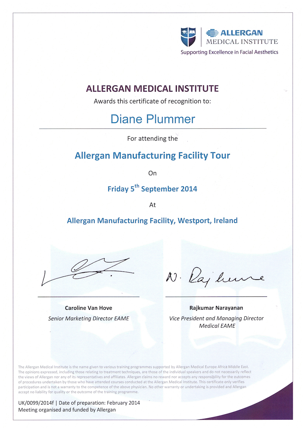 Allergan Medical Institute - Allergan Manufacturing Facility Tour Westport, Ireland